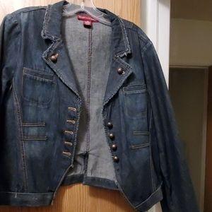 Jones Wear Jean's Jean jacket,  size 16
